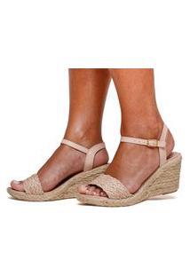Sandália Anabela Plataforma Sb Shoes Ref.1227 Nude
