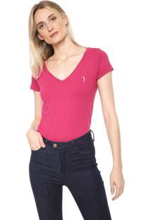 Camiseta Aleatory Básica Rosa