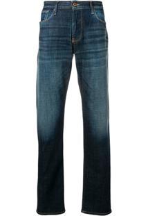 Emporio Armani Straight Fit Jeans - Azul