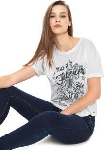 Camiseta Coca-Cola Jeans Florescer Branca
