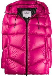 Woolrich Hooded Puffer Jacket - Rosa