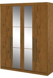 Guarda-Roupa Castellaro - 4 Portas - Rovere Soft - Com Espelho