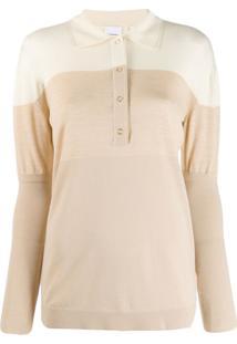Burberry Camisa Polo Bicolor - Neutro