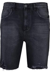 Bermuda John John Clássica Rosselot Jeans Preto Masculina (Jeans Black Medio, 42)