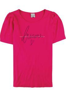 Blusa Pink Canelada Estampada