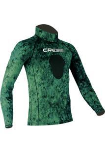 Camiseta Cressi De Lycra Green Hunter Multicolorido