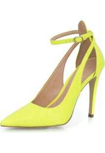 Scarpin Luiza Barcelos Salto Alto Amarelo