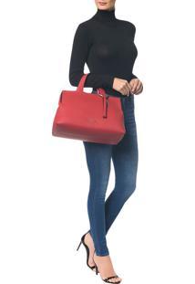 Bolsa Grande Calvin Klein Neat Vermelho - U