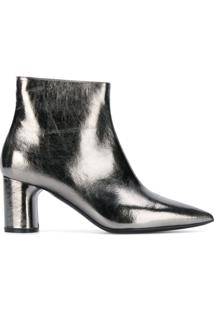 Casadei Pointed Ankle Boots - Prateado