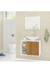 Conjunto Para Banheiro Baden Branco E Marrom