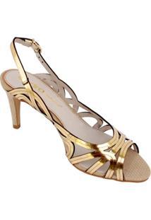 Sandália Esdra Celita - Feminino-Dourado