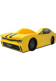 Cama Cama Carro Chevy Amarelo - Amarelo - Dafiti