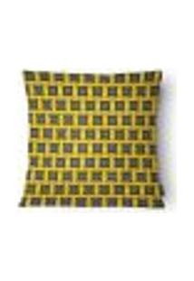 Capa Para Almofada Cetim 43X43Cm Preto,Amarelo E Cinza