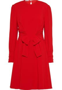Miu Miu Vestido Faille - Vermelho