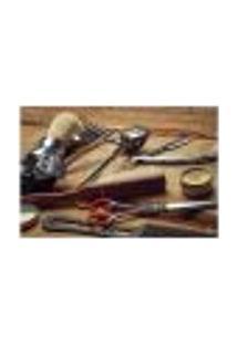 Painel Adesivo De Parede - Barbearia - Barber Shop - 1110Pnm