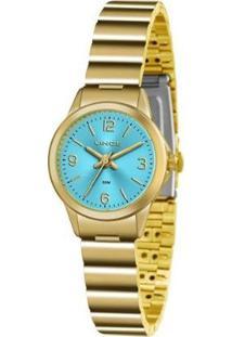 Relógio Feminino Lince Lrg4434L A2Kx Clássico - Unissex-Prata
