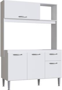 Cozinha Compacta Novo Tempo Katy 3 Portas E 1 Gaveta - Branco