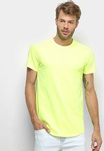 Camiseta Calvin Klein Long Masculina - Masculino-Amarelo