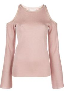 Peter Pilotto Glittered Cold-Shoulder Jumper - Rosa