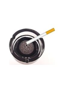 Cinzeiro Fumante Preto Números