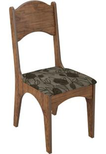 Cadeira Ca18 Chenille Floral Escuro Nobre Fosco