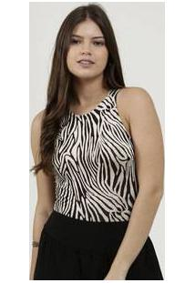 Body Feminino Regata Estampa Animal Print Marisa