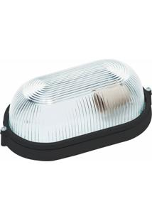 Luminária Biancoluce Tartaruga Preta 24Cm Em Alumínio Fc4M Luminárias