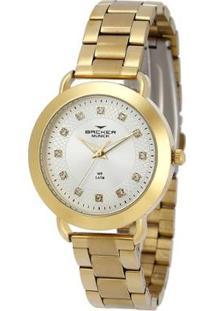 Relógio Feminino Backer 3987145F - Unissex-Dourado