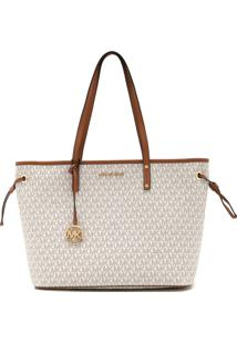 Bolsa Michael Kors Jet Set Travel Lg Tz Drwstrng Branco