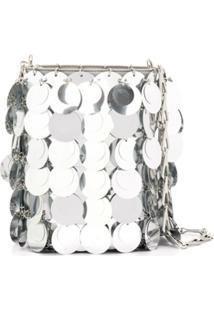 Paco Rabanne Sparkle Bucket Bag - Cinza