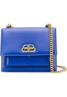 Balenciaga Bolsa Sharp - Azul