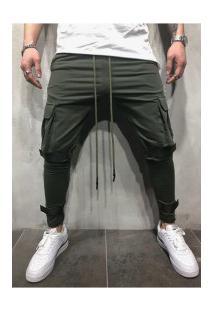 Calça Masculina Swag Bolsos Laterais - Verde