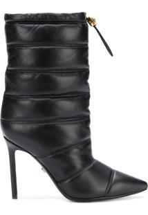Versace Ankle Boot 'Medusa' Matelassê - Preto