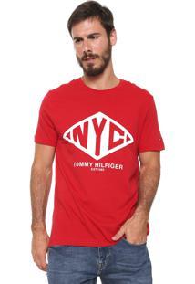 Camiseta Tommy Hilfiger Shear Vermelha
