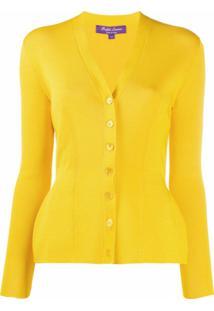 Ralph Lauren Collection Cardigan De Tricô - Amarelo