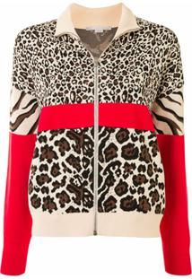 Stella Mccartney Jaqueta Bomber Com Animal Print - Marrom