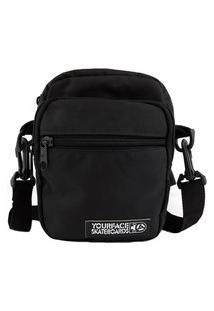 Bolsa Shoulder Bag Your Face Lil I Preto Casual Urbano Estilo Poliéster Mini Bolsa Skate