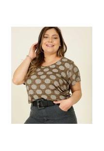 Blusa Plus Size Feminina Estampada Marisa