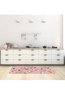 Tapete De Cozinha Mdecore Flamingo Rosa 40X120Cm