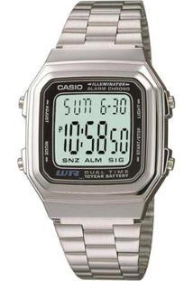 Relógio Casio Vintage A178Wga-1A - Feminino-Prata