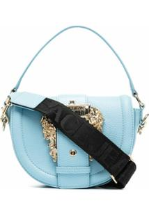 Versace Jeans Couture Buckle Detail Tote Bag - Azul