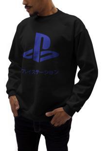 Blusas Playstation Azul Marinho