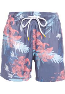 Short Masculino Praia Floral - Azul
