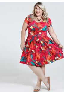 6a49acfcd0 Marisa. Vestido Feminino Floral Tiras Strappy Plus Size