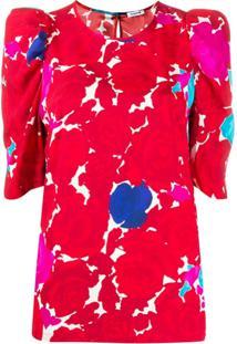 P.A.R.O.S.H. Blusa Com Estampa Abstrata - Vermelho