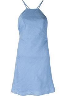 Venroy Vestido Com Alças Posteriores Cruzadas - Azul