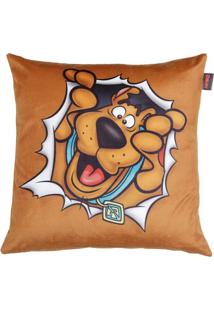 Capa De Almofada Scooby Dooâ®- Marrom & Preta- 45X45Curban