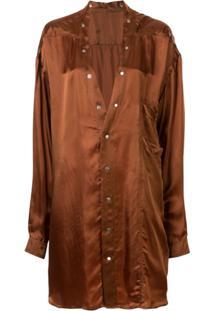 Rick Owens Camicia - Larry Shirt - Marrom