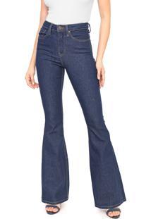Calça Jeans Calvin Klein Jeans Flare High Rise Azul