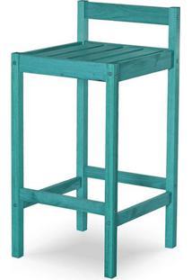 Banqueta Quadra Estrutura Azul 83Cm - 61597 - Sun House